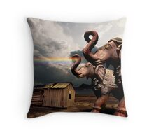 Miracle of a straight rainbow Throw Pillow