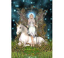 Crystal Fairy & Unicorn Photographic Print