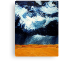 Storm Clouds Over Illinois Wheat Fields Acrylics On Canvas Canvas Print