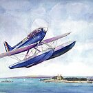 Schneider Trophy S6b over Calshot 1931 by Woodie
