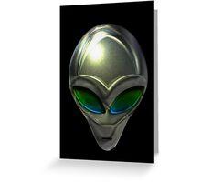 Metal Alien Head 02 Greeting Card