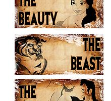 The Beauty, The Beast, The Villian by AllMadDesigns