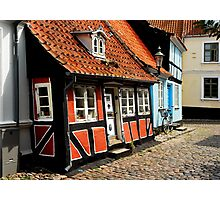 Just some little houses in Denmark Photographic Print