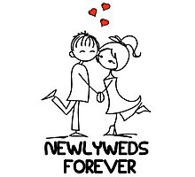 Newlyweds Forever Photographic Print
