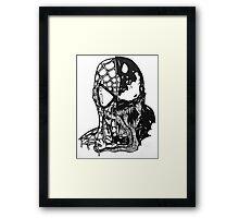 Spiderman vs Venom Framed Print
