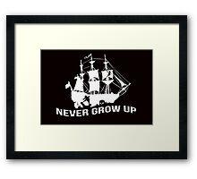 Peter Pan - Never grow up Framed Print