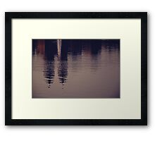 New York reflected Framed Print