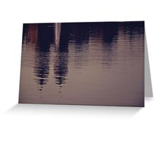 New York reflected Greeting Card