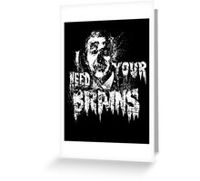 Bush For BRAINS Greeting Card