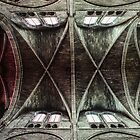 Nave ceiling  Cathedral Notre Dame en Vaux France 198405060078  by Fred Mitchell