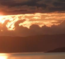 Sunset over Erbusaig Sticker
