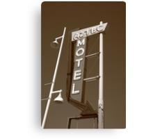 Route 66 - Aztec Motel Canvas Print