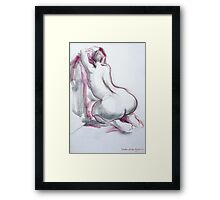 Figure in Pink and Grey Framed Print