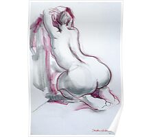 Figure in Pink and Grey Poster