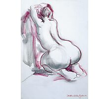 Figure in Pink and Grey Photographic Print