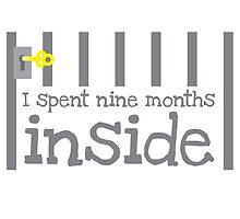 I spent 9 months on the inside (with jail bars pregnancy baby design) by jazzydevil