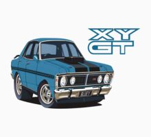 Ford Falcon XY GT HO Car toon, Bluey by UncleHenry