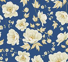 Design of vintage floral pattern  by Kotkoa