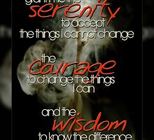 Serenity Prayer Stick © Vicki Ferrari by Vicki Ferrari