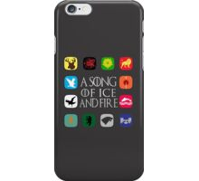 Westeros Noble Houses - A Song of Ice and Fire iPhone Case/Skin
