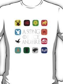 Westeros Noble Houses - A Song of Ice and Fire T-Shirt