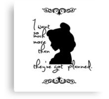 Disney Princesses: Belle (Beauty and the Beast) *Black version* Canvas Print