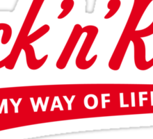 Rock 'n' Roll – My Way Of Life (Red) Sticker