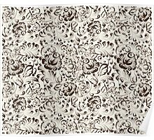 Floral seamless pattern in Gzhel style Poster