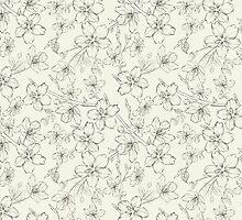Cherry blossom seamless pattern by Kotkoa