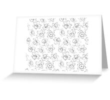 Seamless pattern with flowers narcissus. Greeting Card