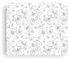 Seamless pattern of bright strawberry Canvas Print