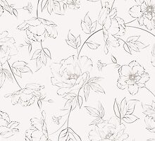 Peony seamless pattern for textile fabric by Kotkoa