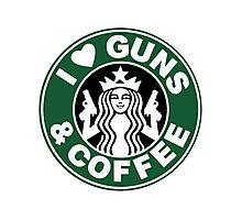 Guns & Coffee Photographic Print