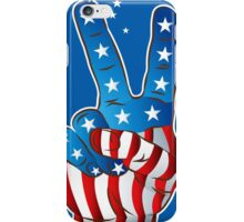 American Patriotic Victory Peace Hand Fingers Sign iPhone Case / iPad Case / T-Shirt / Samsung Galaxy Cases  / Pillow / Tote Bag / Prints / Duvet iPhone Case/Skin