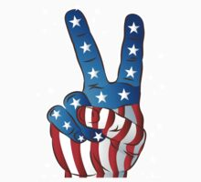 American Patriotic Victory Peace Hand Fingers Sign iPhone Case / iPad Case / T-Shirt / Samsung Galaxy Cases  / Pillow / Tote Bag / Prints / Duvet Kids Clothes