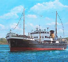 SS Shieldhall on a cruise in the Solent by martyee