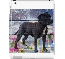 Staffy old painted wood  iPad Case/Skin