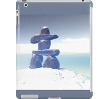 Winter inukshuk iPad Case/Skin