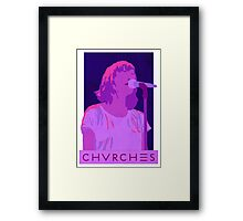 CHVRCHES Art - Neon Lauren Mayberry Framed Print