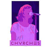 CHVRCHES Art - Neon Lauren Mayberry Photographic Print