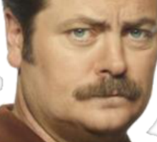 "Ron Swanson - ""No"" Sticker"