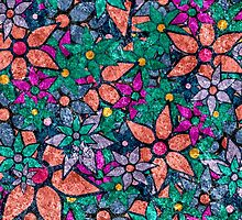 Retro Trendy Floral Pattern by Nhan Ngo