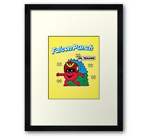 Falcon-Punch Framed Print
