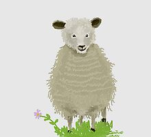FUZZY SHEEP by Sandra  Aguirre