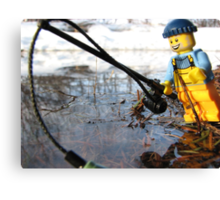 Some Fishing Action Canvas Print