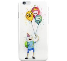Finn with Birthday Balloons Jake Princess Bubblegum BMO iPhone Case/Skin