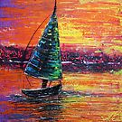 Sailing at Sunset by Laura Barbosa