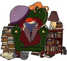 The reader by Bantambb