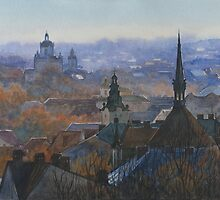 Panoramic view of Lviv by Vera Kalinovska
