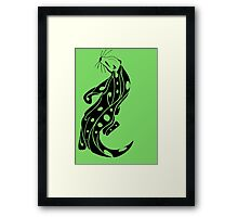 Tribal otter 2 Framed Print